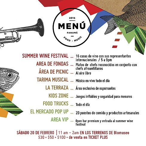 AGENDA  | MENÚ PANAMÁ. FOOD, MUSIC