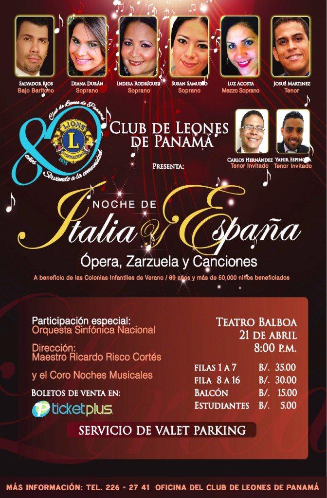 AGENDA  | CONCIERTO BENÉFICO CLUB DE LEONES DE PANAMÁ