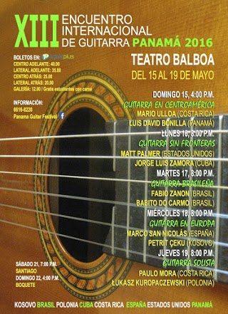 AGENDA  | PANAMÁ CELEBRA ENCUENTRO INTERNACIONAL DE GUITARRA